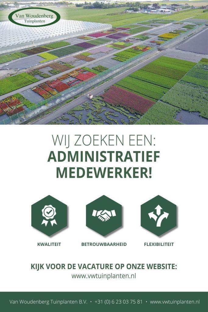 Vacature Administratief medewerk(st)er